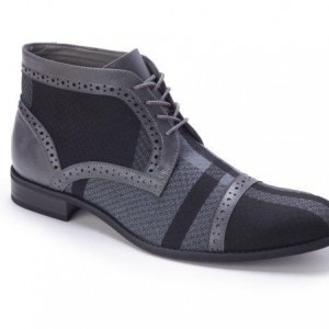 Montique S-1778 Men's Shoes Matching Boots Grey