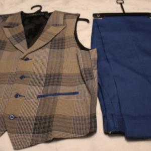Montique V-27 Mens Vest Sets Cobalt