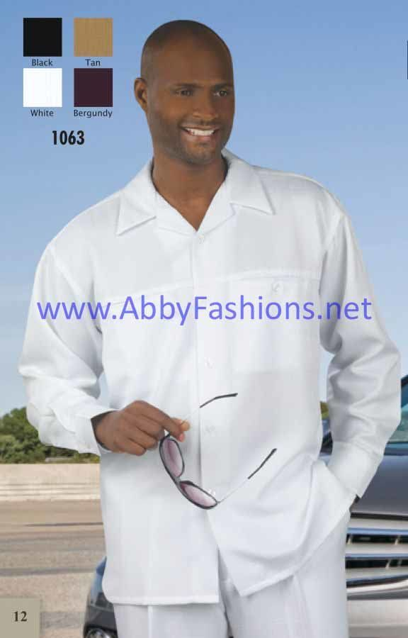 Walking Suits Montique 1063 White Long Sleeve, Abby Fashions