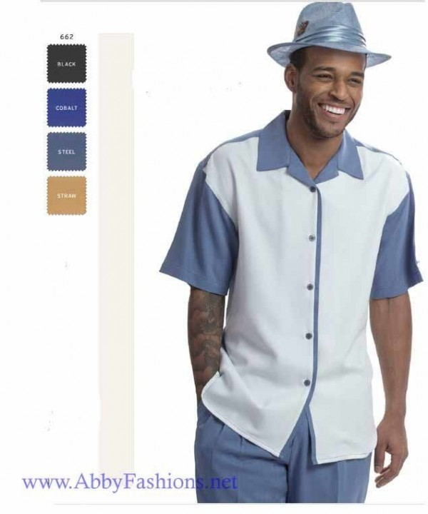 Walking Suits Montique 662 White Short Sleeve Set 600x720, Abby Fashions