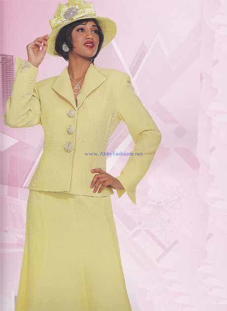 Chancelle Suit 16146 Lemon Womens Church Suits Abby Fashions