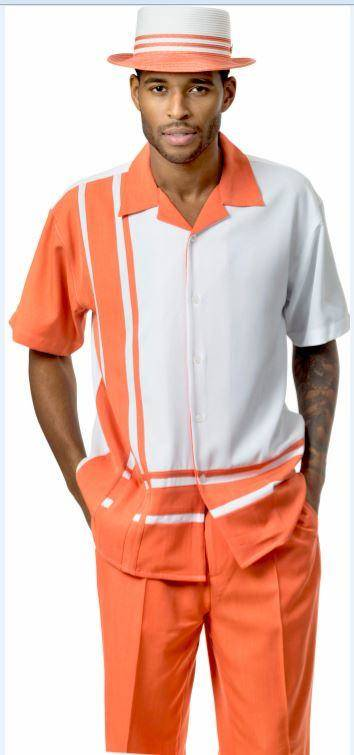 montique-1777-walking-suit-coral-white-short-sleeve-leisure-suits