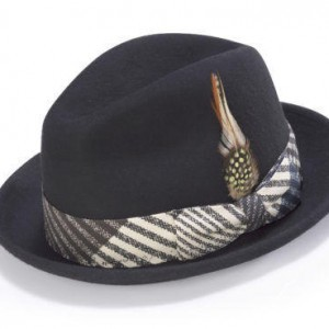 Montique H-1717 Fedora Matching Hat Black