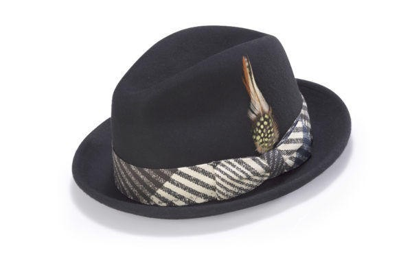 Montique H-1717 Fedora Matching Hat Black, Abby Fashions