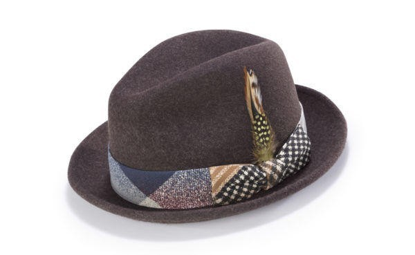 Montique H-1717 Fedora Matching Hat Brown, Abby Fashions