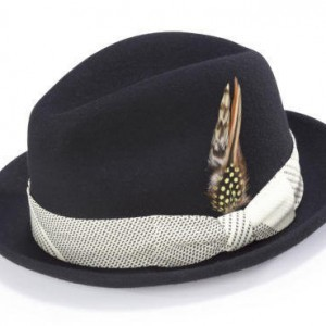 Montique H-1753 Fedora Matching Hat Black-Cream