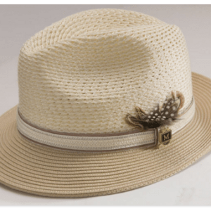 17a332382ff Montique H-31 Mens Straw Fedora Hat Tan