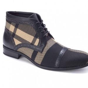 Montique S-1778 Men's Shoes Matching Boots Tan