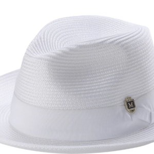 96bfd75b091 Montique H-42 Mens Straw Hat White · Mens Hats