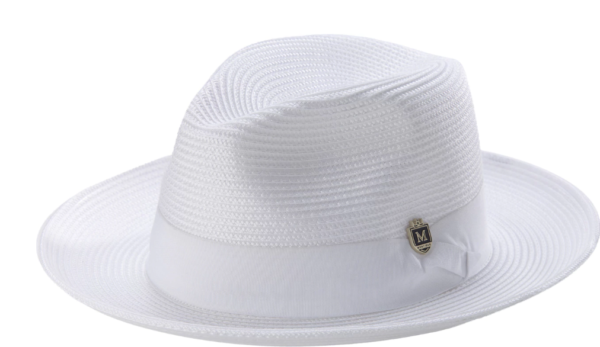 Montique H 42 Mens Straw Fedora Hat White 600x347, Abby Fashions