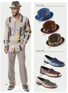 montique-1819-mens-walking-suit-olive-blue-brown-long-sleeve-mens-leisure-suits-hats-and-shoes