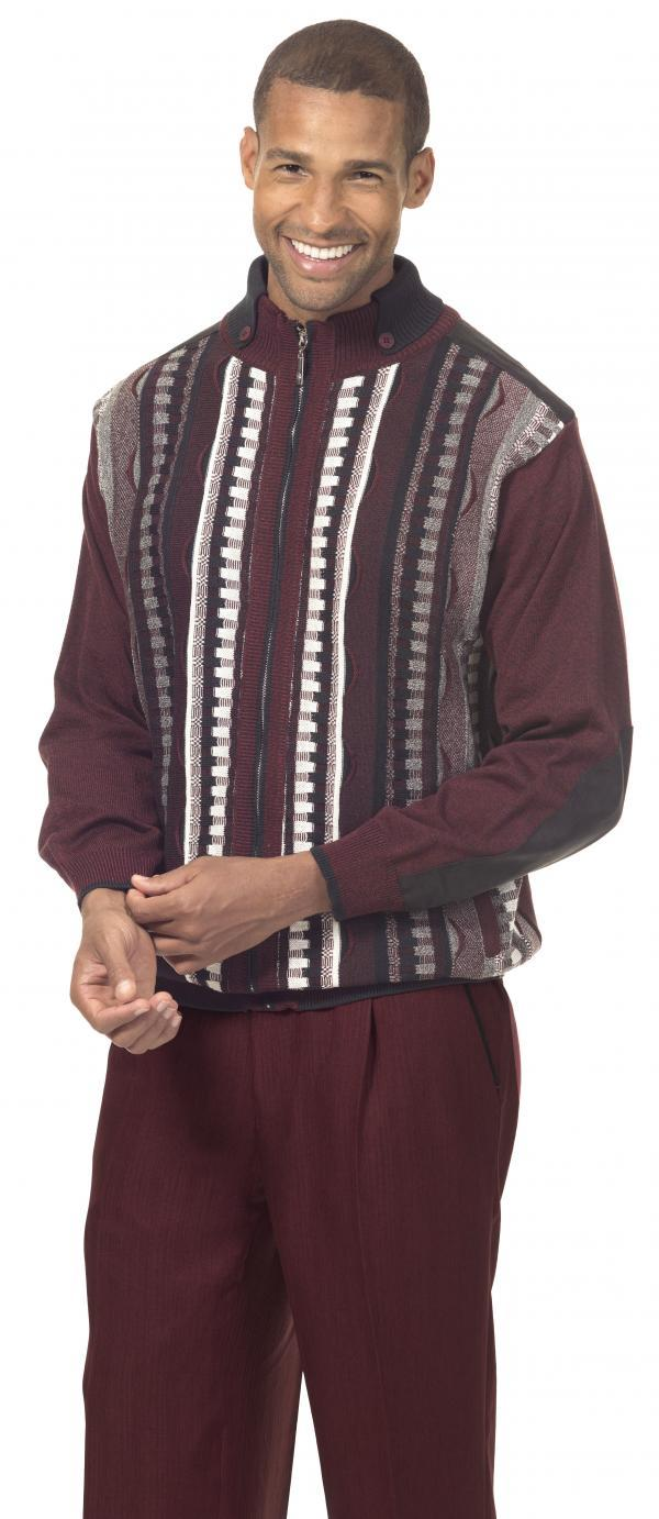 Montique 1711 Mens Sweater Sets Burgundy 1 600x1382, Abby Fashions