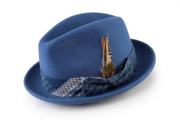 Montique H 1819 Fedora Matching Hat Blue 600x401, Abby Fashions