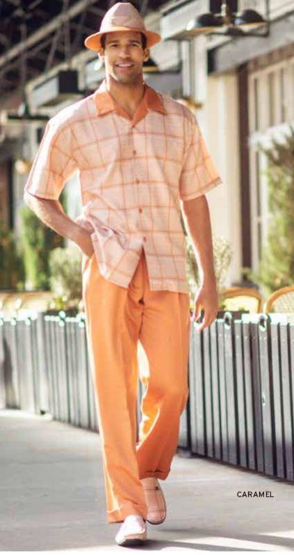 Montique 1901 Walking Suit Caramel Mens Two Piece Leisure Suits 2, Abby Fashions