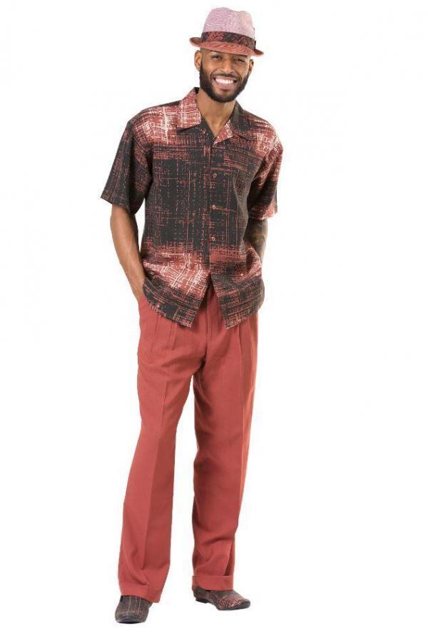 Montique 1904 Walking Suit Cognac Mens Leisure Suits Short Sleeve Short Sleeve 600x894, Abby Fashions