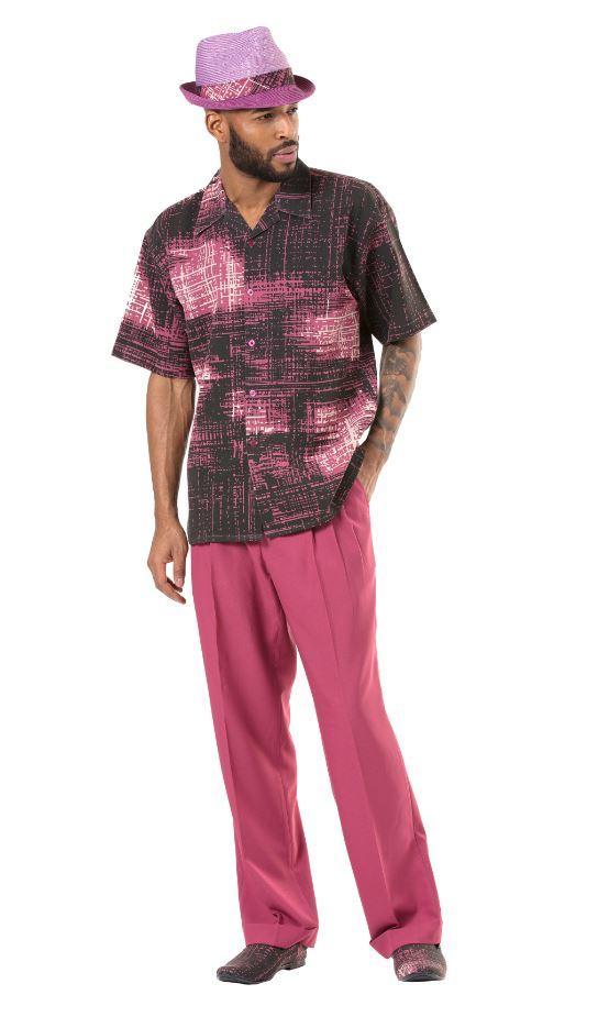 montique-1904-walking-suit-dustry-rose-mens-leisure-suits-short-sleeve
