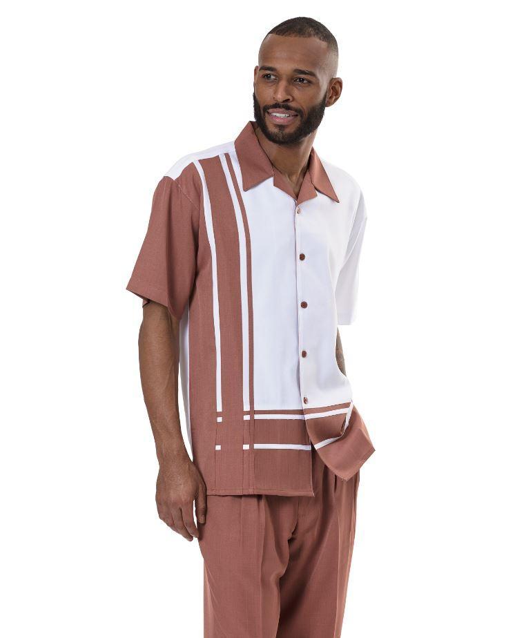 Montique 1977 Mens Walking Suit Cinnamon
