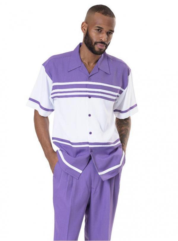 Montique 1978 Walking Suit Purple Mens Leisure Suits Short Sleeve 600x809, Abby Fashions
