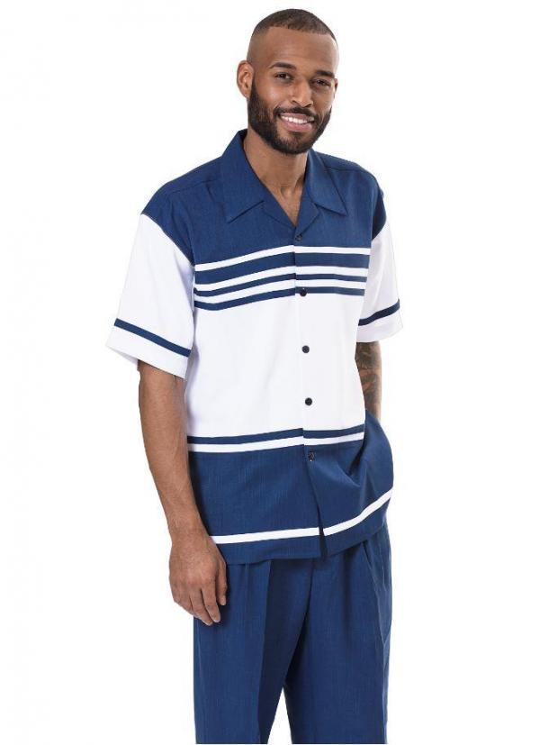 Montique 1978 Walking Suit Sapphire Mens Leisure Suits Short Sleeve 600x827, Abby Fashions