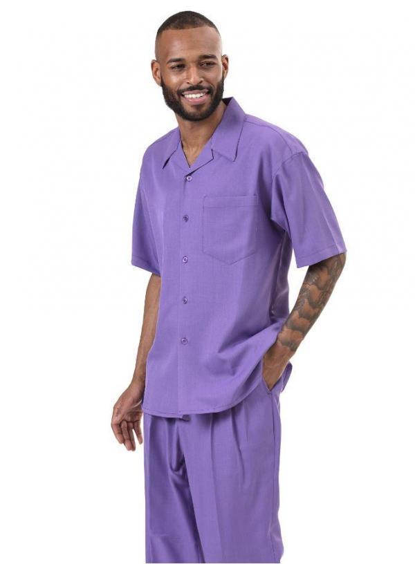 Montique 696 Walking Suit Purple Mens Leisure Suits Short Sleeve 600x816, Abby Fashions