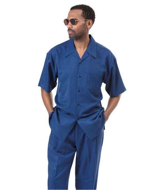 Montique 696 Walking Suit Sapphire Mens Leisure Suits Short Sleeve 600x736, Abby Fashions