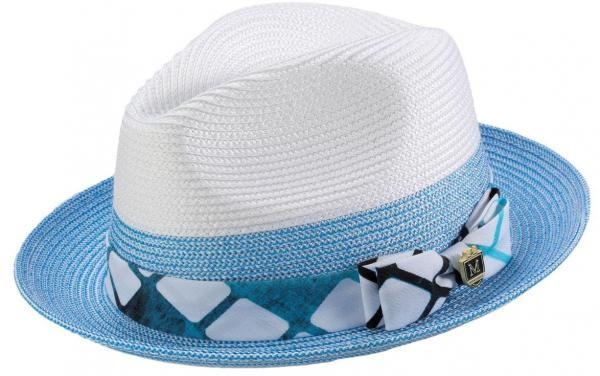 Montique H 1914 Mens Straw Hat Blue White Matching Hats 600x376, Abby Fashions
