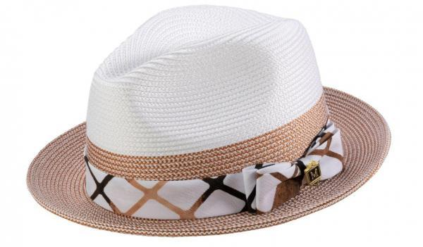 Montique H 1914 Mens Straw Hat Cognac White Matching Hats 600x351, Abby Fashions