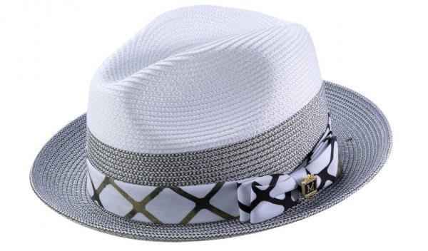 Montique H 1914 Mens Straw Hat Olive White Matching Hats 600x352, Abby Fashions
