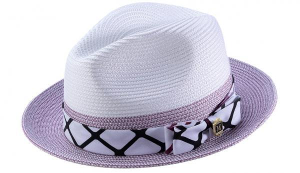 Montique H 1914 Mens Straw Hat Purple White Matching Hats 600x346, Abby Fashions