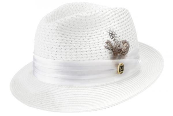 Montique H 34 Mens Straw Hat White 600x402, Abby Fashions