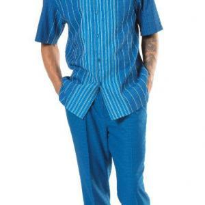 montique-1946-mens-walking-suits-teal-mens-leisure-suits-short-sleeve