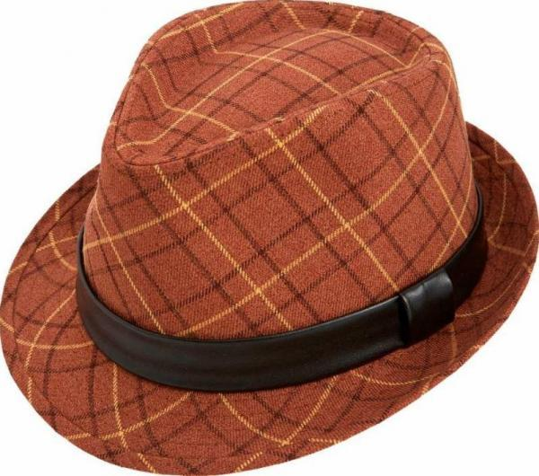 Montique H 14 Mens Matching Hat Rust 600x530, Abby Fashions