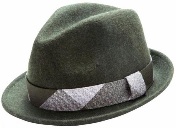 Montique H 1634 Mens Fedora Matching Hat Hunter 1 600x437, Abby Fashions