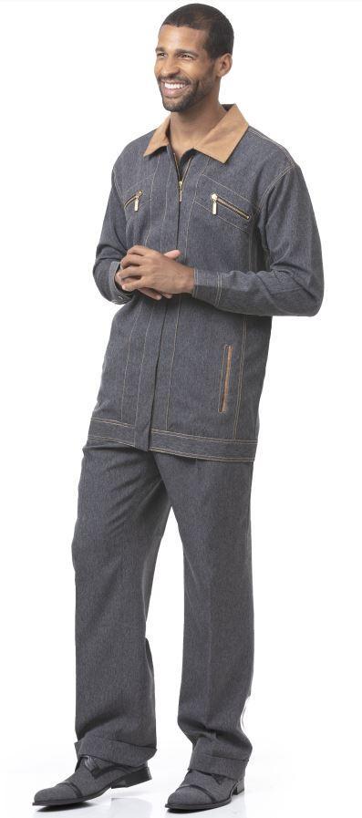 Dj 77 Montique Jacket Sets Black Mens Walking Suits, Abby Fashions