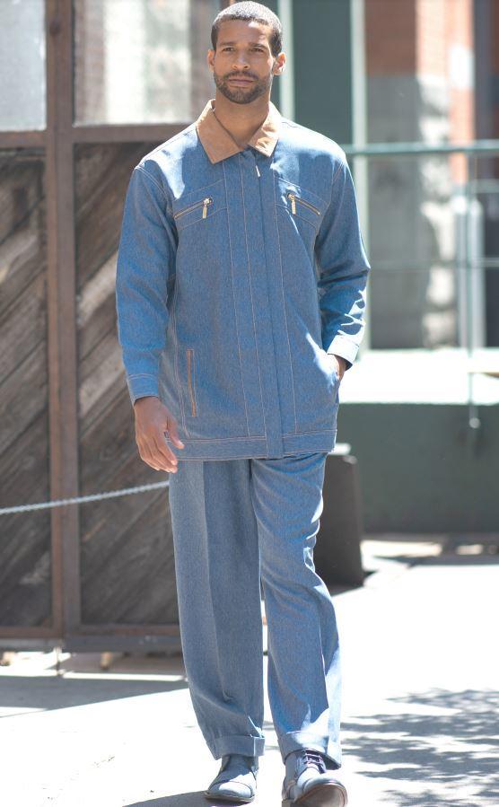 Dj 77 Montique Jacket Sets Blue Mens Walking Suits, Abby Fashions