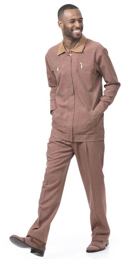 Dj 77 Montique Jacket Sets Cognac Mens Walking Suits, Abby Fashions