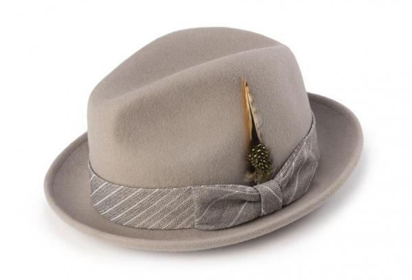 Montique H 1963 Mens Fedora Matching Hat Khaki 600x408, Abby Fashions