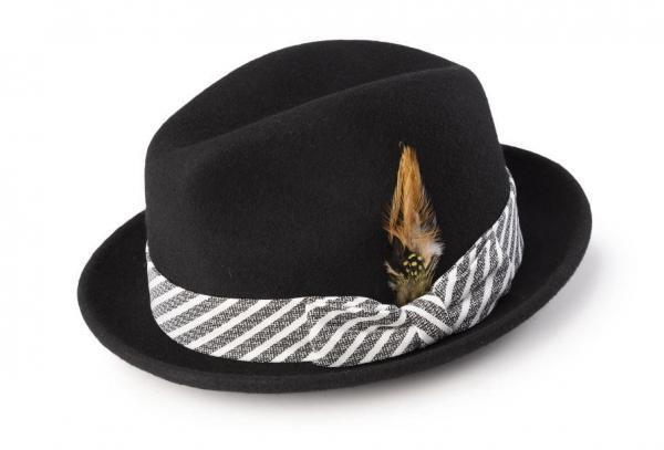 Montique H 1982 Mens Fedora Matching Hat Black 600x407, Abby Fashions