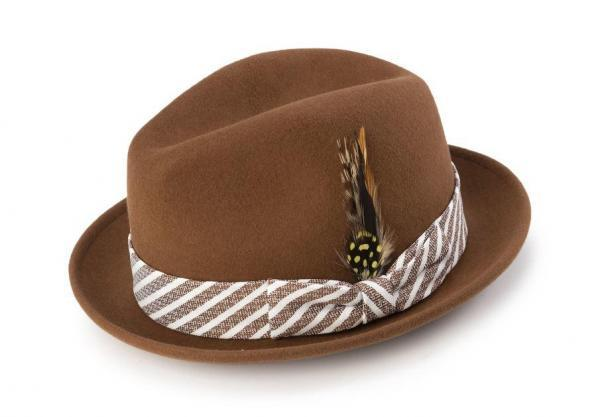 Montique H 1982 Mens Fedora Matching Hat Bronze 600x417, Abby Fashions