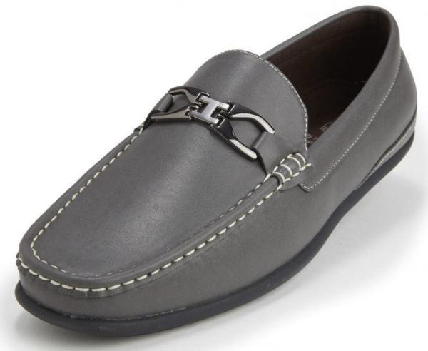 Montique S 13 Mens Metal Bit Loafers–grey Driving Shoes 600x492, Abby Fashions