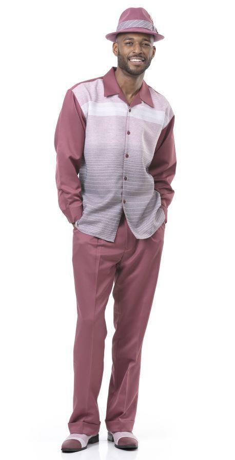 Montique Walking Suits 1963 Mauvei Mens 2pc Leisure Suits, Abby Fashions