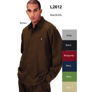Fortino-Landi-L-2612-mens-walking-suits-black-long-sleeve-mens-leisure-suits