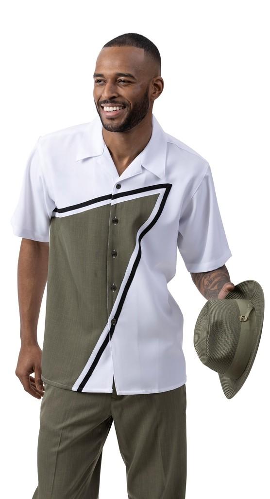 Montique 2020 Mens Walking Suits Olive Mens 2pc Leisure Suits, Abby Fashions