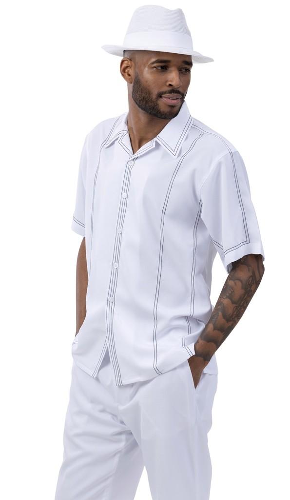 montique 2021 mens walking suits white