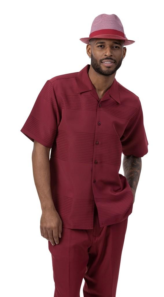 montique 2022 mens walking suits burgundy