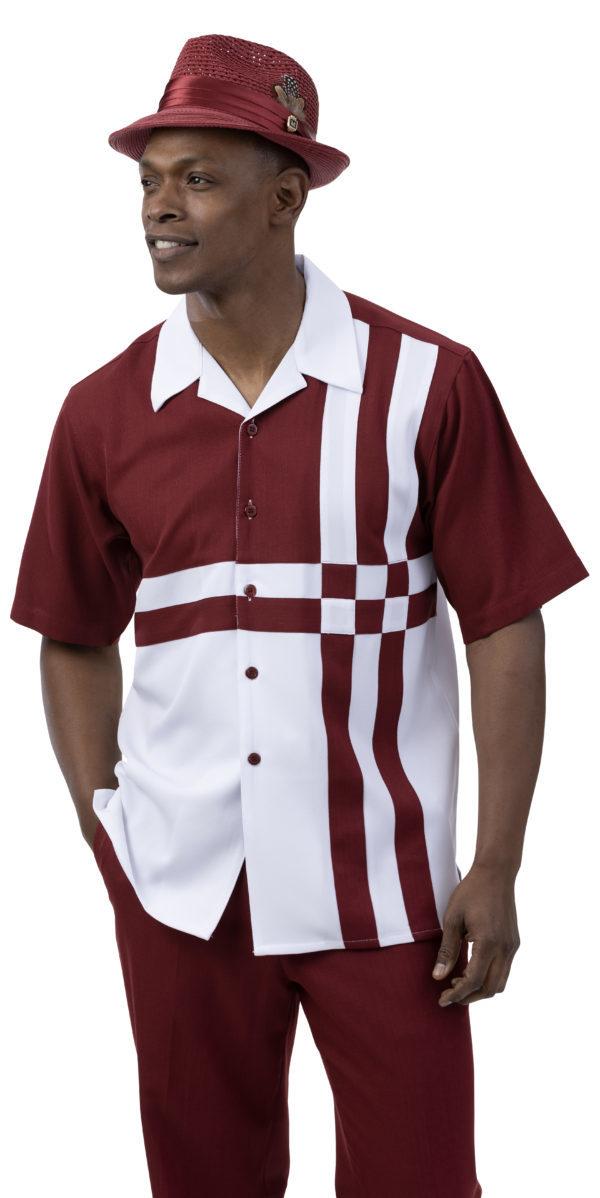 montique-2078-mens-walking-suits-burgundy-mens-two-piece-leisure-suits