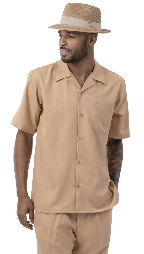montique 696 mens walking suits tan