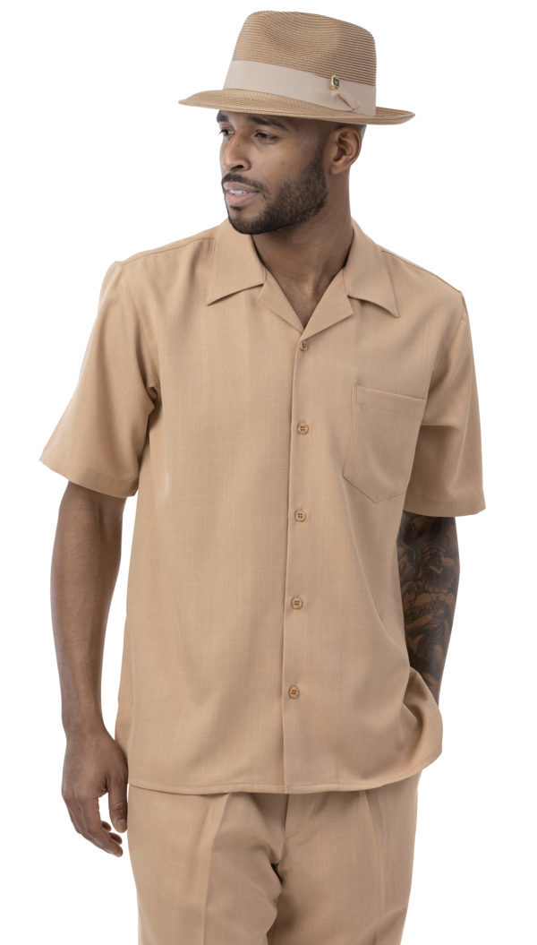 Montique 696 Mens Walking Suits Tan Mens Leisure Suits 600x1055, Abby Fashions