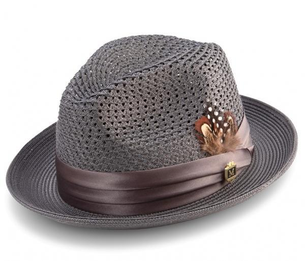 Montique H 34 Mens Straw Fedora Hat Grey 600x514, Abby Fashions