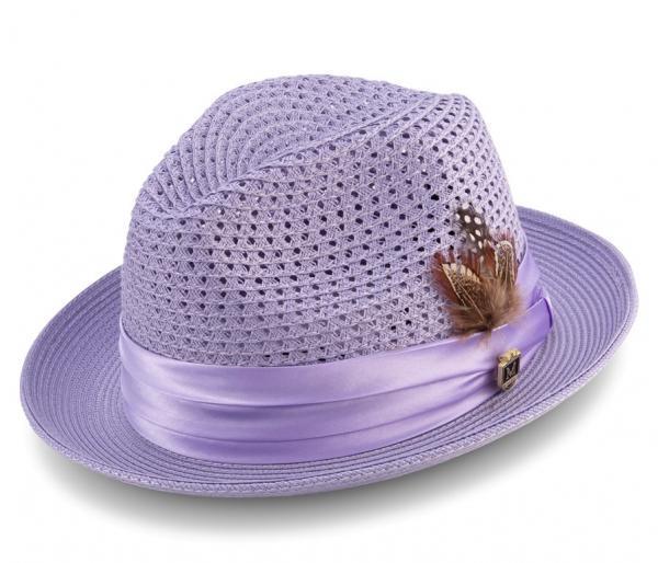 Montique H 34 Mens Straw Fedora Hat Lavender 600x514, Abby Fashions